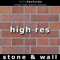 3 Red Stone Wall Brick Textures