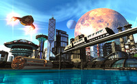 Future City Stock Images