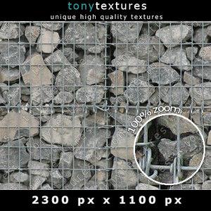 Gabion Stone Wall Element 02