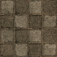 High resolution used stone block pavement 2 + normal map