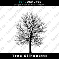 Tree Silhouette 028 - High Res