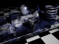 Blue & Black Marble