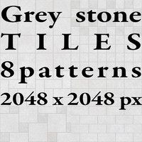 Tiles - Grey Stone - 8 Patterns