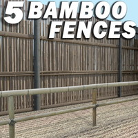 5 Bamboo Fences Collection ---------------  High Resolution