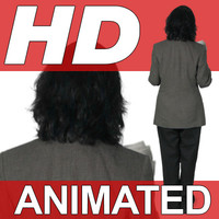 High Definition Animated People Textures - HD Kathy Business