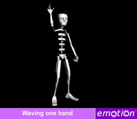 emo0005-Wave one hand