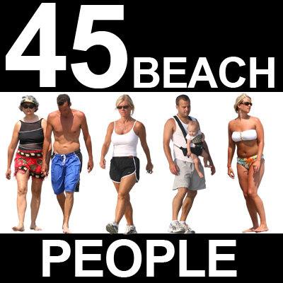 45 Beach People Textures