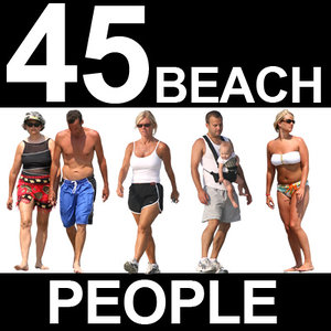 45 Beach People Textures