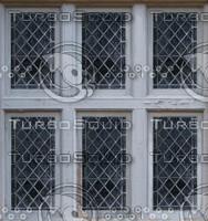 Old diamond pane windows