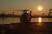 Helicopter on Landing Pad
