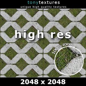 Gras Grate Stone - High Resolution