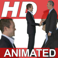 High Definition Animated People Textures - HD Group F Business
