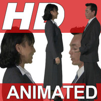 High Definition Animated People Textures - HD Group H Business