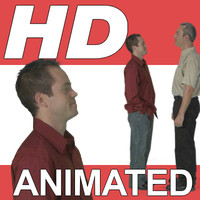High Definition Animated People Textures - HD GroupE Casual