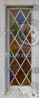 stained glass diamond window