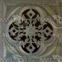 Gothic ornamental plaque texture