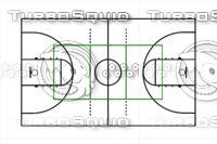 Standard Gym Floor Markings