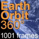 Earth Orbit 360°   8000x4000   1001 frames