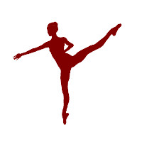 Flash Animation Dance: Ballet Dance 01 (Woman with Updo) maroon