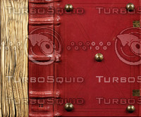 Red Leather Book Texture