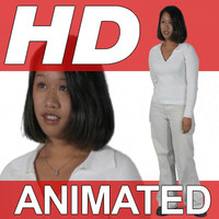 High Definition Animated People Textures - HD Anna Casual