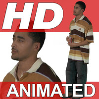 High Definition Animated People Textures - HD Antwan Casual