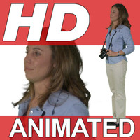High Definition Animated People Textures - HD Dana Casual