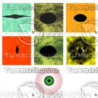 Animal and human eye texture