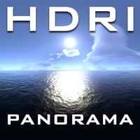 HDRI Panorama Caribbean Sky