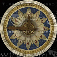 Clock Face with floral design