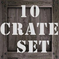 10 crate texture set