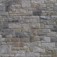 Seamless Stone Wall Texture w/ Normal Map