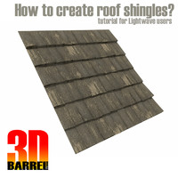 3Dbarrel tutorial - How to create roof shingles?