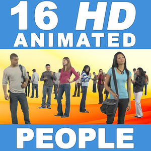 16 HD Animated People - Casual Standing - v2