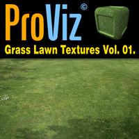 3dRender Pro-Viz Grass Lawn Vol. 01