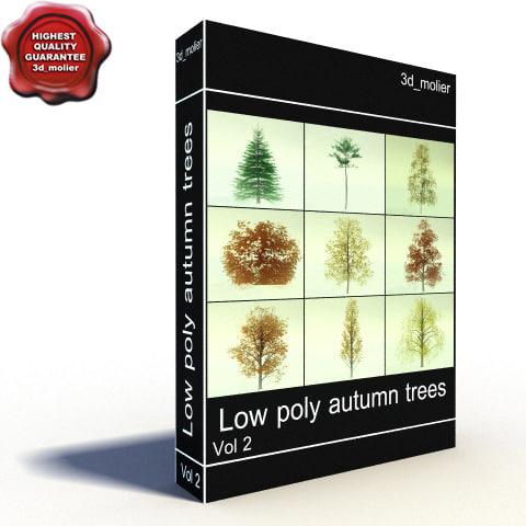 autumn trees 3d model