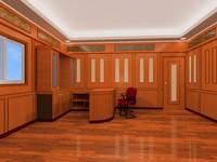 interior design office wood 3ds