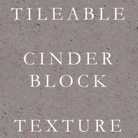 Tileable Cinderblock or concrete texture