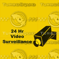 24 Hr Video Surveillance Texture