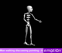 emo0006-Man walking discussing pointing - A
