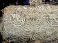 Irish carved stone
