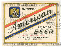 american beer label