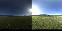 HDRI Sky on green hill