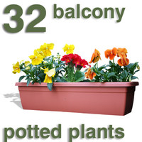 Cut Out - 32 balcony plants
