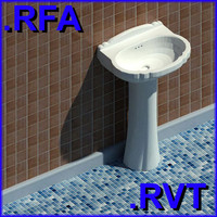 3d model of revit plumbing fixtures sink