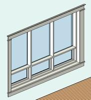 3 Pane Window with Trim