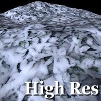 Snow grass ground texture