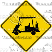 Caution Golf Cart Crossing Sign