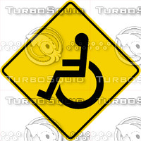 Caution Handicapped Sign