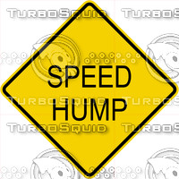 Caution Speed Hump Sign